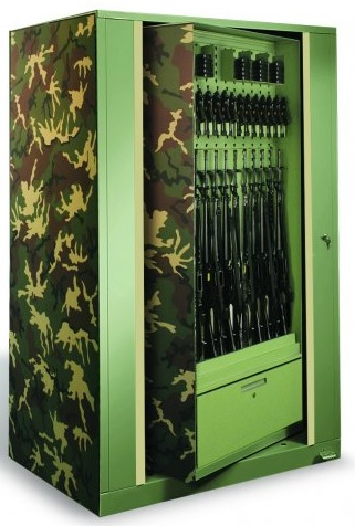 Weapons rotating storage cabinet